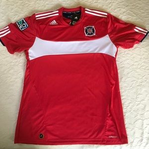 ADIDAS Chicago Fire MLS Jersey Mens XL NWT